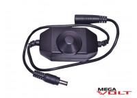 LED диммер 6A 72W black (mini, провод)
