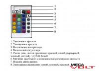 RGB контроллер 12A IR 144W (24 кнопки) aluminum