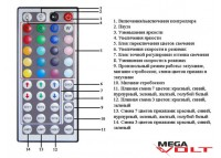 RGB контроллер 12A IR 144W (44 кнопки) aluminum