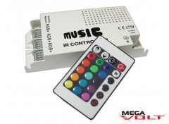 RGB music контроллер 5A IR 60W (24 кнопки)