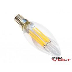 Светодиодная лампа E14 6W 220V Edison Candle