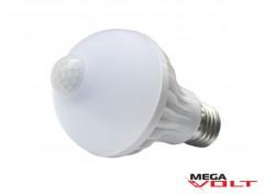 Светодиодная лампа E27 7W 220V Bulb MS Plastic (с датчиком движения)