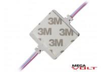 Светодиодный модуль SMD 5730 4LED (IP67) 12V (с матовой линзой)