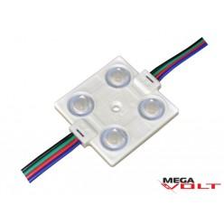 Светодиодный модуль SMD 5050 4LED (IP65) 12V (с линзой)