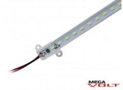 Светодиодная линейка SMD 5730 (76 LED) IP44 220V (прозрачная) 1000mm