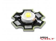 Сверхъяркий светодиод LED 3W Warm White Star 220 Lm