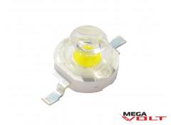 Сверхъяркий светодиод LED 1W White 120 Lm with lens