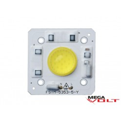 Сверхъяркий светодиод LED 50W White with lens 5000 Lm 220V