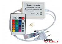 RGB контроллер IR 600W 220V (24 кнопки)