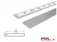 Алюминиевая полоса АД31 Т5 15х2мм (анодированная)