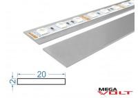 Алюминиевая полоса АД31 Т5 20х2мм (анодированная)