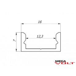 Алюминиевый профиль LP-7 ( не анодированный)