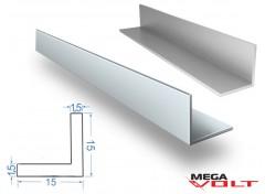 Алюминиевый уголок АД31 Т5 15х15х1,5мм (анодированный)