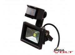 Светодиодный прожектор COB 10W 220V IP65 (Black) с датчиком движения