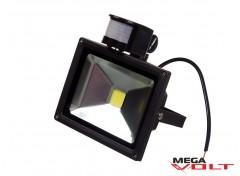 Светодиодный прожектор COB 20W 220V IP65 (Black) с датчиком движения