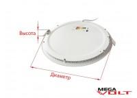 Встраиваемый светодиодный светильник 3W slim (round)
