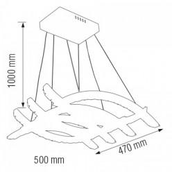 Светодиодная люстра AVIATOR-56 56W