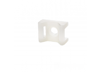 Площадка под винт  для стяжки [хомутов] 4,5 мм 16х22 мм белая нейлон