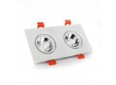 LED светильник потолочный белый двойной 5W угол поворота 45° 4100К
