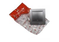 Выключатель с подсветкой Серебряный камень Enzo IP22