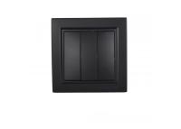 Выключатель тройной Безупречный графит Enzo IP22